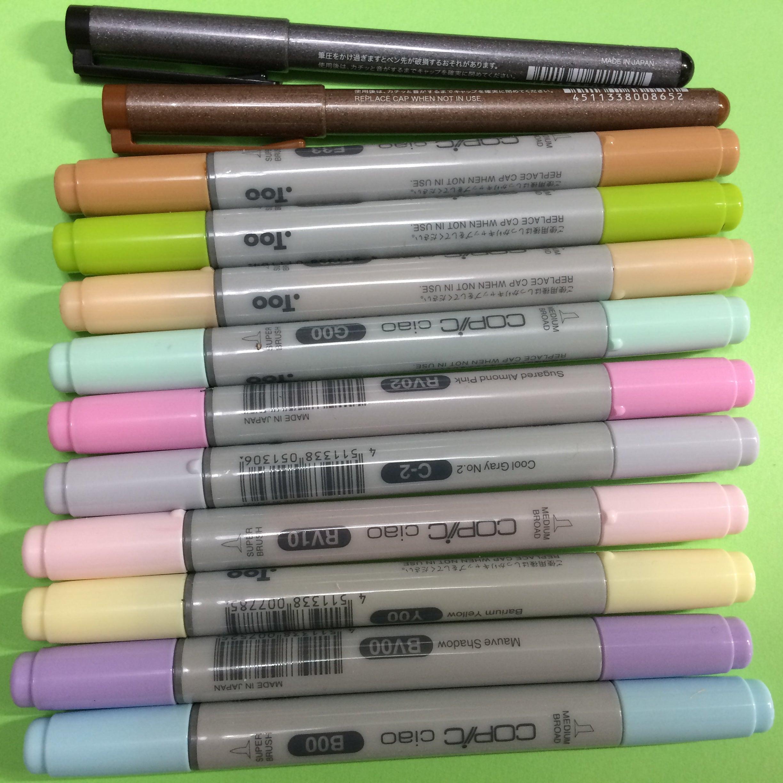 カラーマーカーペンでのイラストは重ね塗りが面白い 色にちなん