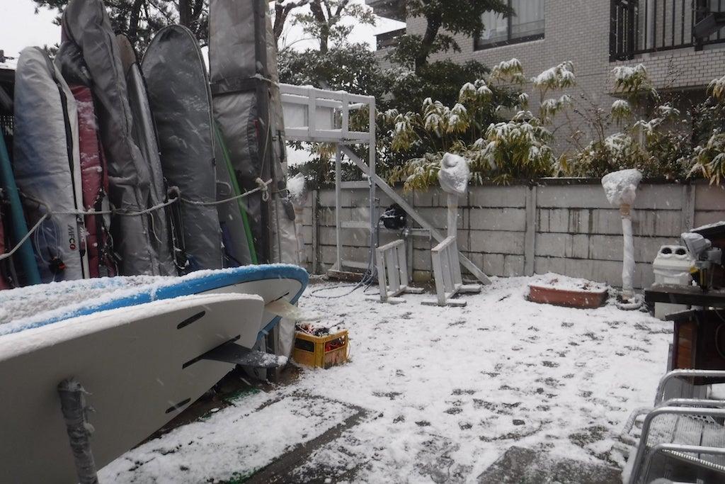 雪降ってきた・・・雪だるまの記事より