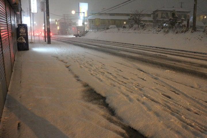 大雪で早めに閉店です