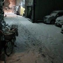 雪のあと。