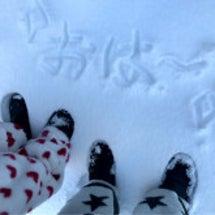 雪で、おは〜