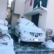 ノーマルタイヤでの雪…