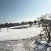 雪の影響でゴルフ場はクローズ