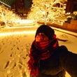 大雪の夜カメラを持っ…