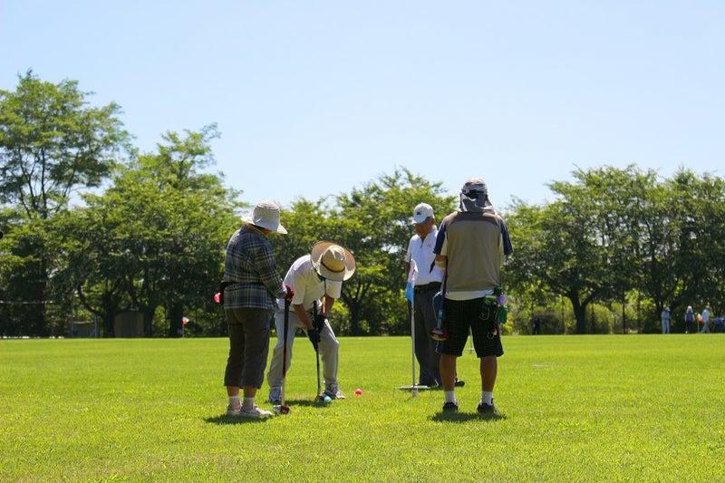 シニアのグランドゴルフ