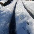 雪の日の片づけ作業