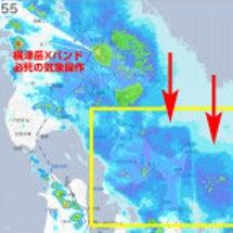 青森沖の降雨域に明確…