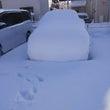 車が雪で埋もれてしま…