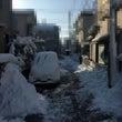 大雪。一夜明けて。
