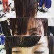 前髪を作りました