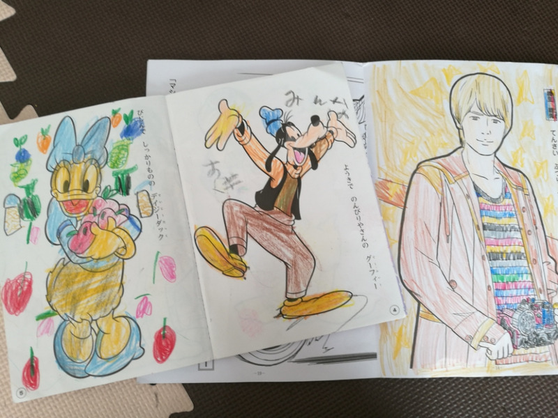 ぬりえで写し描き ぬりえの効果 とも2児ママ Dwe と仕事復帰生活