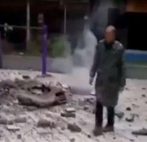 爆発 マンホール