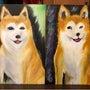 シバ犬を描くワークシ…
