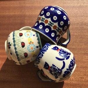 ポーランド陶器 マグカップ 猫柄 定番柄 入荷しました♡の画像