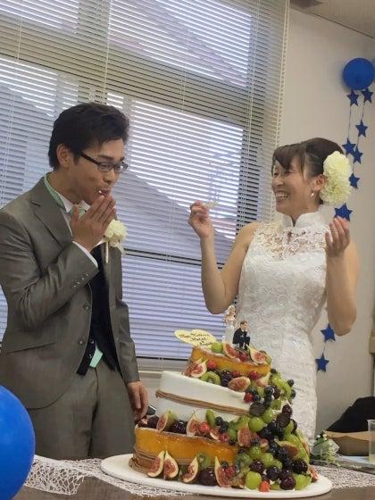 ルフェリーチェウェディング 出張ヘアメイク 小田原十字町教会 結婚式 ウェディングケーキ