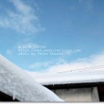 """・ まるで """"雪山に…"""