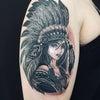 刺青★インディアンガール(腕)B&G!の画像