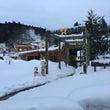 雪の鳴子温泉
