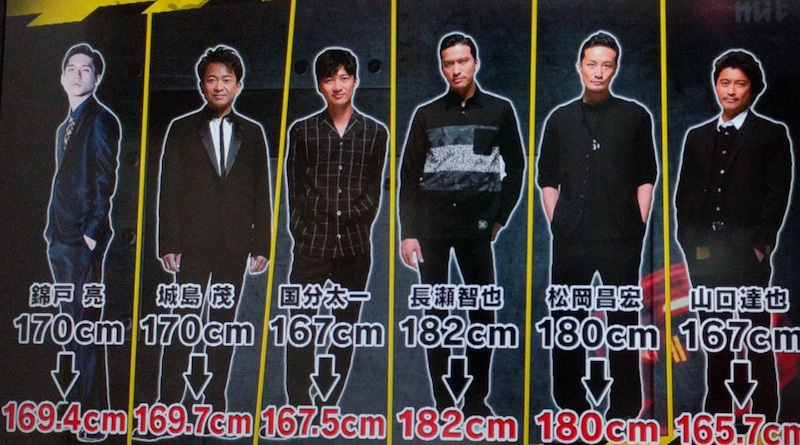 TOKIOカケルでTOKIOの身長測定❤ ...