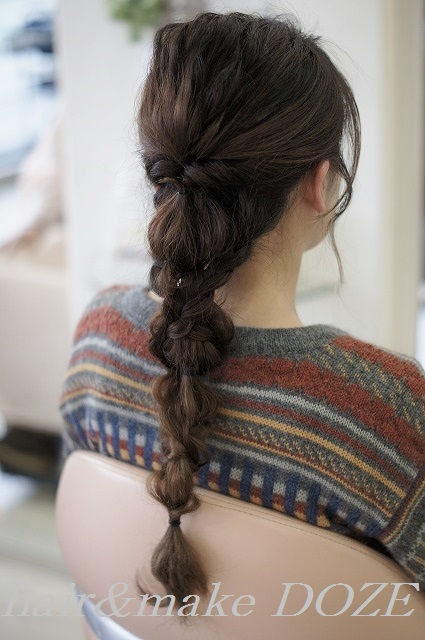 編み下ろしスタイル。