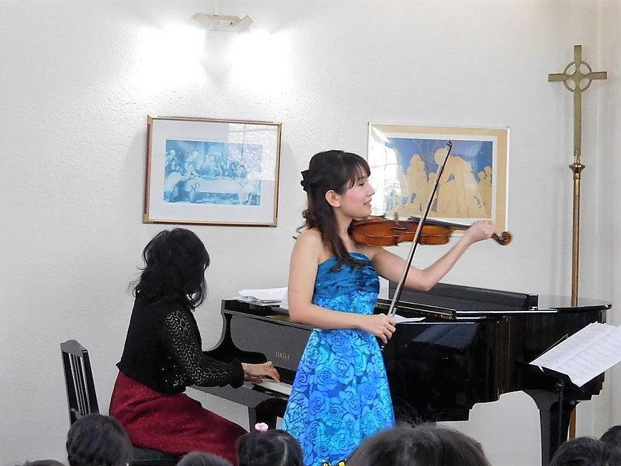バイオリンミニコンサートの記事より
