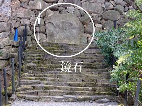 岡崎城の鏡石