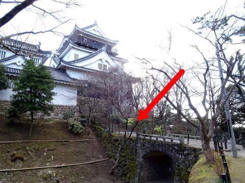 岡崎城のかつての大手口