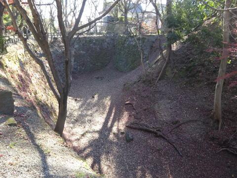 岡崎城の青海堀の場所