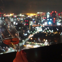 東京の夜と泡と目標。