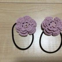 かぎ針編み花のヘアー…