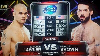 観戦記839 UFC on FOX 12 ロビー...