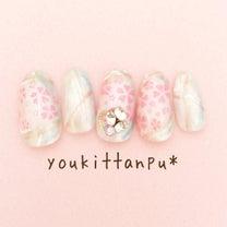 ふんわり桜舞う お祝いの日ネイル*ジェルネイルチップ youkittanpu*(の記事に添付されている画像