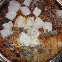 チゲ鍋を調理しました…