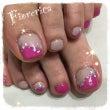 ❤春ピンクのペディキ…