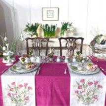 イースターのテーブル…