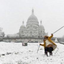 パリで積雪!モンマル…