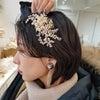 花嫁ヘアスタイル/ヘアメイクリハーサル/ショートヘアアレンジの画像