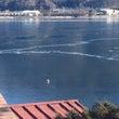 今日の河口湖 最強寒…