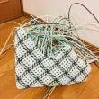 斜め石畳編みのバッグ…