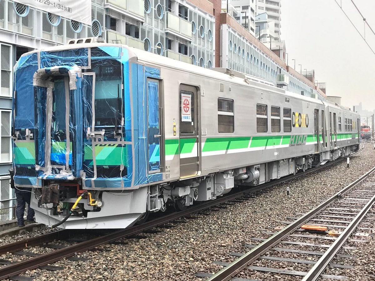 JR北海道 新型気動車 H100形 札幌へ向けて輸送開始 補足