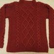 ダイヤ柄のセーター完…
