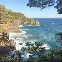 城ヶ崎海岸の絶景。静…