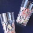 花柄のペアグラス