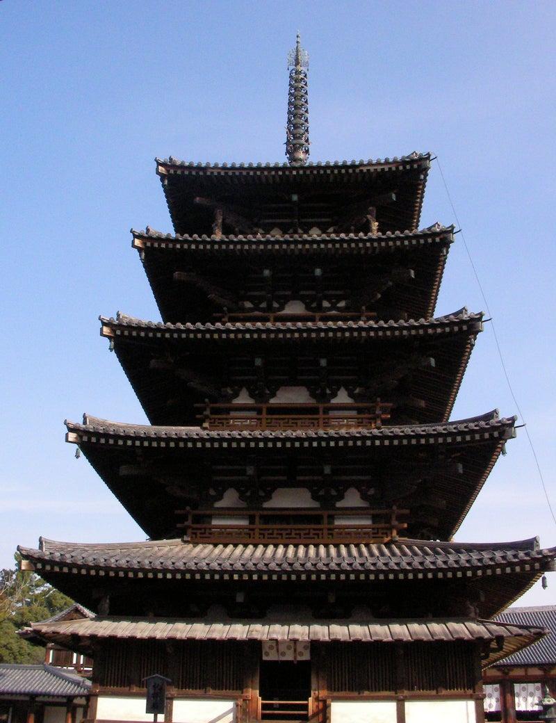 法隆寺五重塔(ほうりゅうじごじゅうのとう) | 関西の国宝建造物と ...