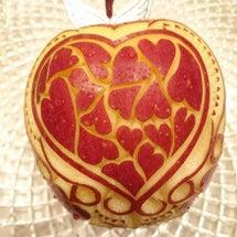 バレンタイン りんご…