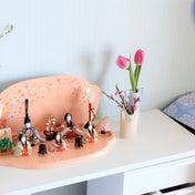 お雛様×リサ×マリメッコ。飾るのに適した日は?今年の雨水の日。