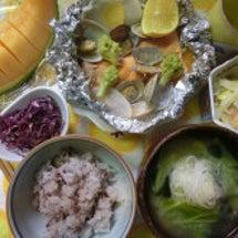 鮭とあさり、冬野菜の…