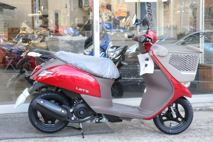 50cc新車で安定の販売力 レッツバスケット