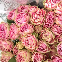 市場の帰りはお花と一…