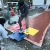 スタンプコンクリート ガーデン エクステリア 庭 外構 菊川市の画像